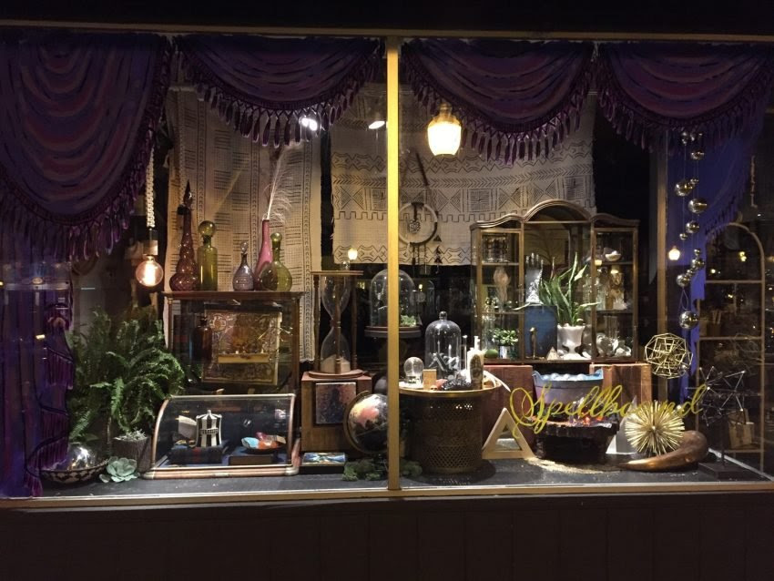 25 Examples of Halloween Retail Displays to Inspire You - Apothecary Decor Window Display - Halloween Retail Displays - Halloween Retail Ideas - Halloween Display Ideas