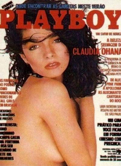 Cláudia Ohana na lendária capa da revista Playboy que, ainda hoje, dá o que falar (Foto: Reprodução Revista Playboy)