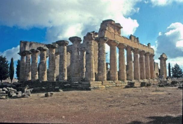 An ancient temple devoted to the god Zeus