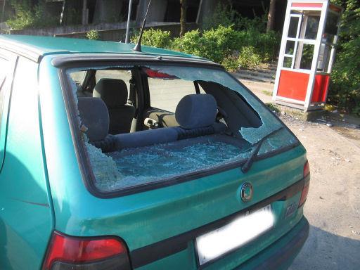 auto di Lino rotta