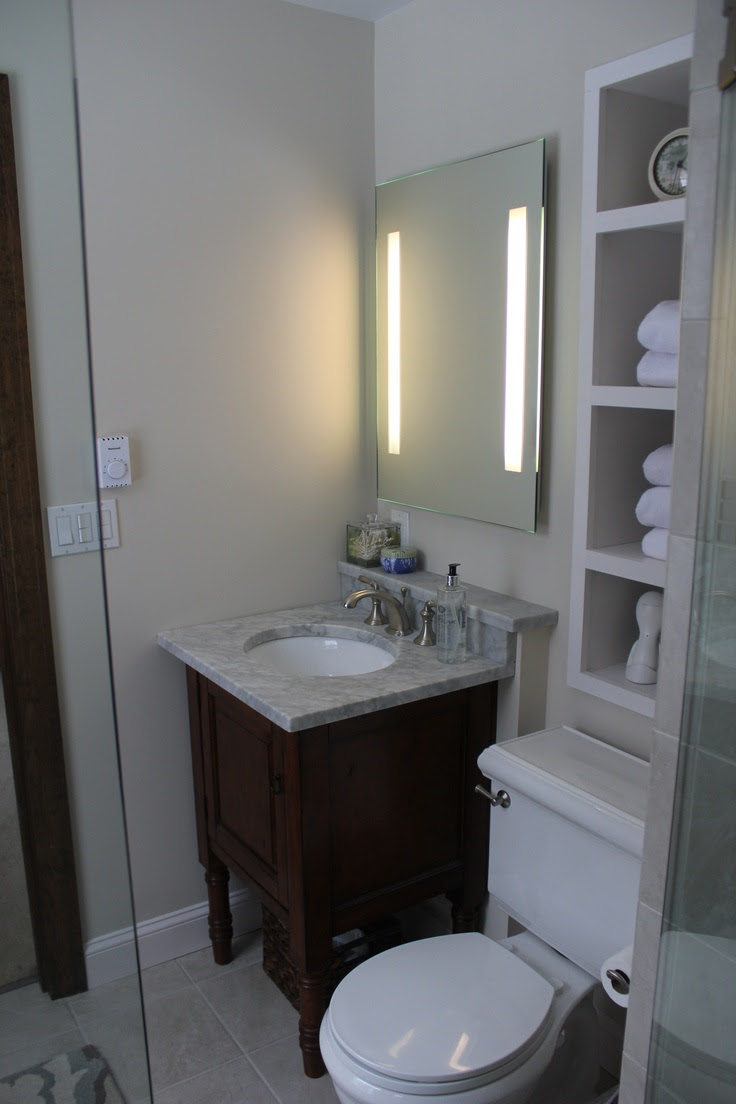 Small bathroom reno | Bathroom Ideas | Pinterest