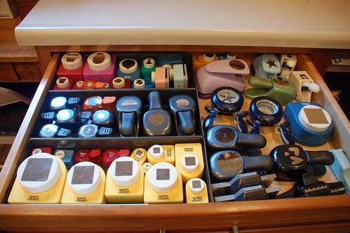 {B} Punch drawer