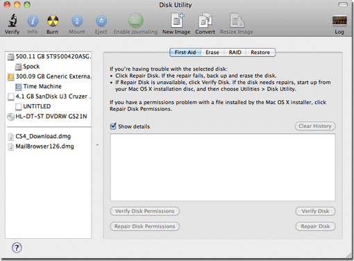 Launch Disk Utility.