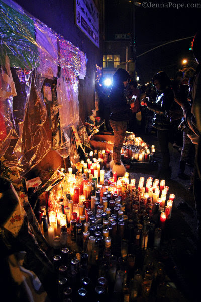 Vigil for Kimani Gray in East Flatbush, Brooklyn. (JennaPope.com/Jenna Pope)