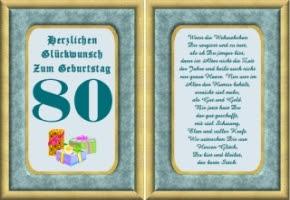 Nette Spr He Zum 80 Geburtstag