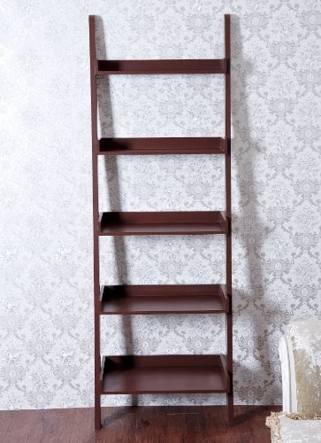 Unique 72 High Leaning Ladder Style Magazine Book Shelf