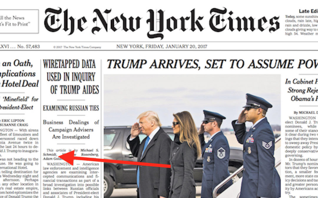 Image: In bizarre plot to discredit Trump, NY Times says NY Times is fake news