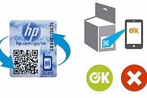 Reconhecimento de cartuchos originais HP via celular (Foto: Reprodução/HP)