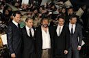 Director Jackson and cast Armitage, Freeman, Wood and Serkis attend premiere of 'The Hobbit - An Unexpected Journey' in Tokyo