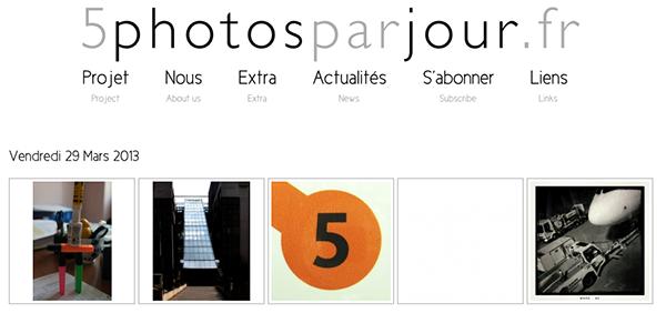 5 photos par jour