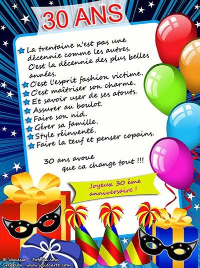 Carte Anniversaire Humour 30 Ans Coleteremelly Blog
