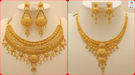 Latest Gold Necklace Designs   Simple Gold Necklaces with