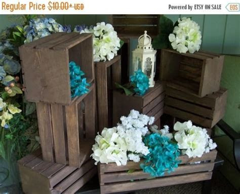 ON SALE Rustic Flower Box Centerpiece , Wooden Crates