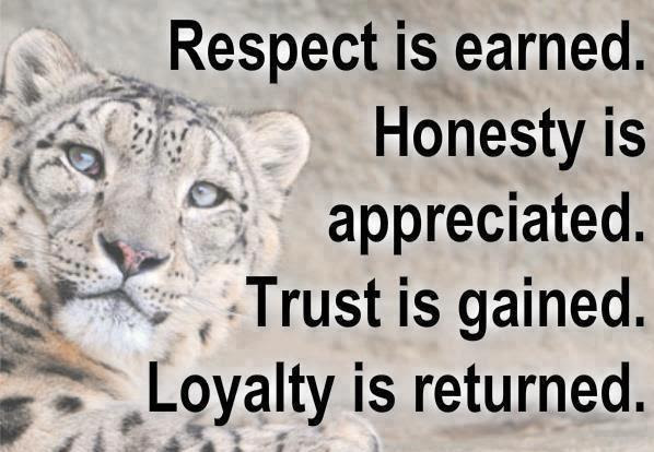 Thought For The Dayrespect Is Earned Inspirational Quotes