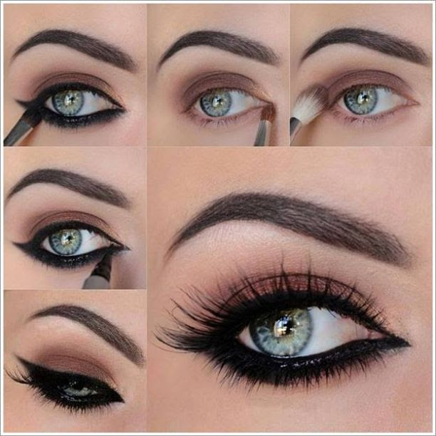 Black Smokey Eye making Step By Step Guidance