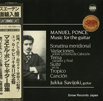 SAVIJOKI, JUKKA ponce, manuel music for the guitar