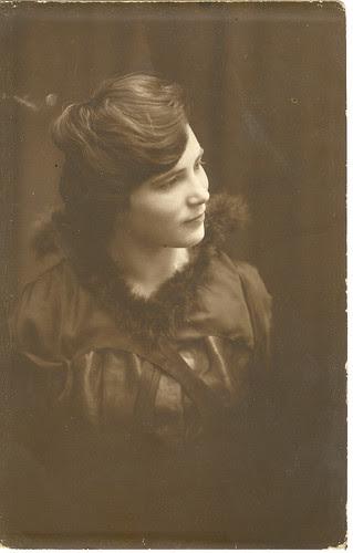 Young Philadelphia Woman, Realphoto Postcard