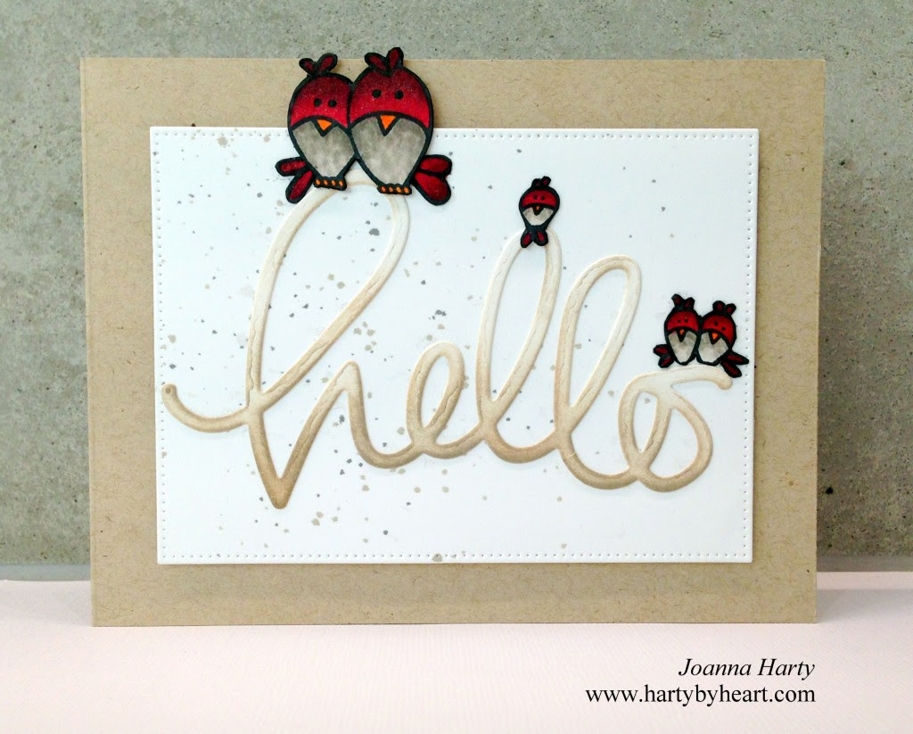 Card created by Joanna Harty using TAWS stamps and Big Hello die from SSS