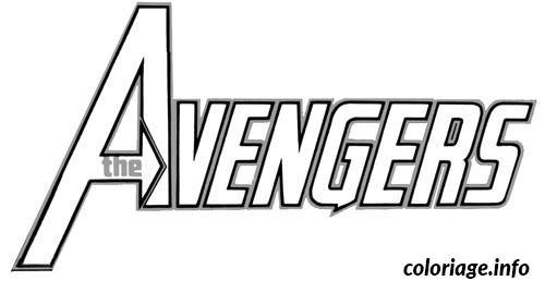Download Coloriage Avengers Logo dessin