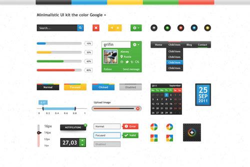 PSD Template - Minimalistic UI Web Elements
