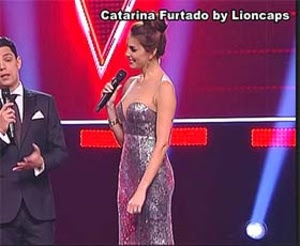 Catarina Furtado sensual no The Voice Portugal