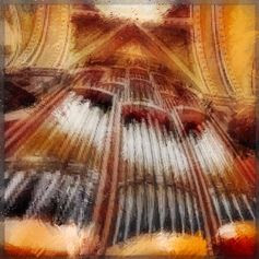 ÓRGANO// Acordes de órgano en catedral atruenan notas potentes, recias, cristalinas que con fuerte soplar de las bocinas por los muros y bóvedas resuenan. Pone en olvido cotidianas faenas de fieles asombrados que arracima y en sus almas las asperezas lima al brindar armonía a manos llenas. Hábiles dedos surcando por teclado modulan sabiamente el sutil viento mensajero de arpegios, llega alado en puro gozo, detiénese el momento cuando…—> http://albertotroconiz.blogspot.com.es/2013/12/organo.html