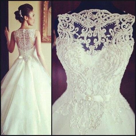 Vintage Sleeveless Princess Beaded Lace And Tulle Wedding
