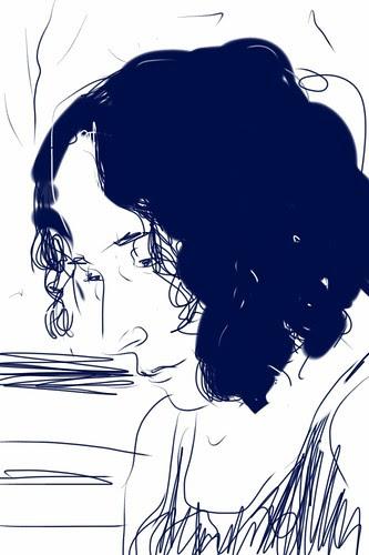 iPhone sketch portrait