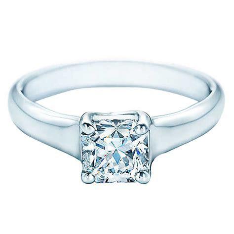 Tiffany and Co. Lucida Cut Diamond Platinum Ring at 1stdibs