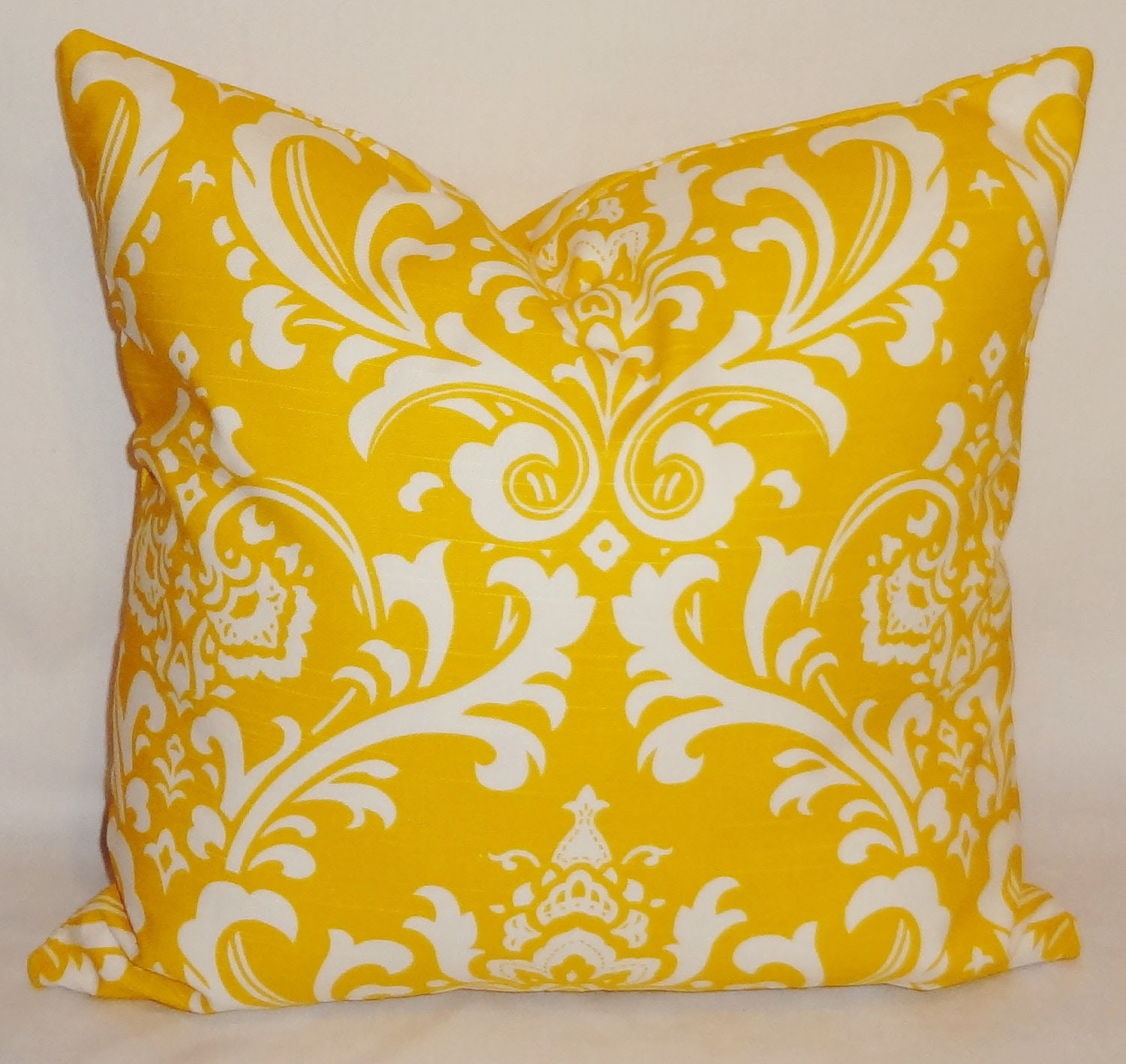 Decorative Pillows Corn Yellow/White Damask Pillow by HomeLiving