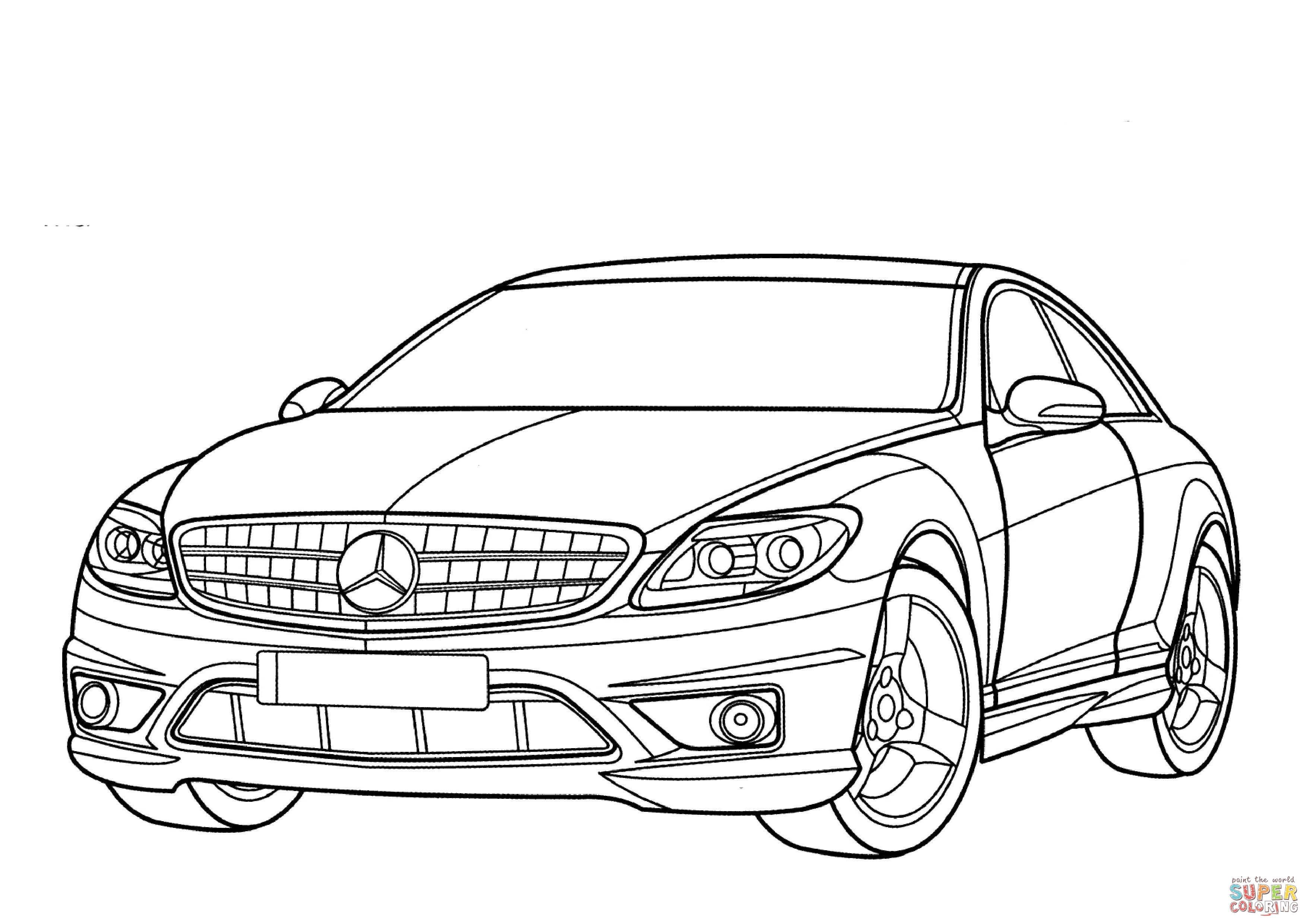 Kleurplaat Mercedes Amg