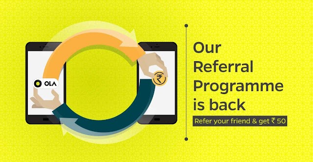 Get ₹50 discount on first Ola ride & Earn Ola Vouchers worth ₹1200 for free