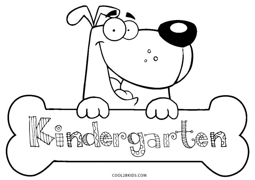 Free Printable Kindergarten Coloring Pages For Kids ...