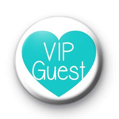 Teal Heart VIP Guest Badge : Kool Badges