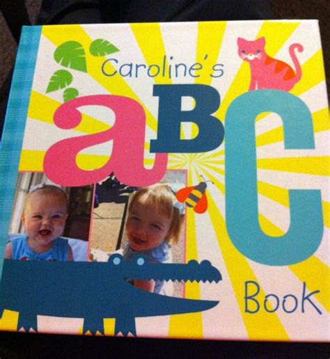 custom alphabet photo books  children fun  kids