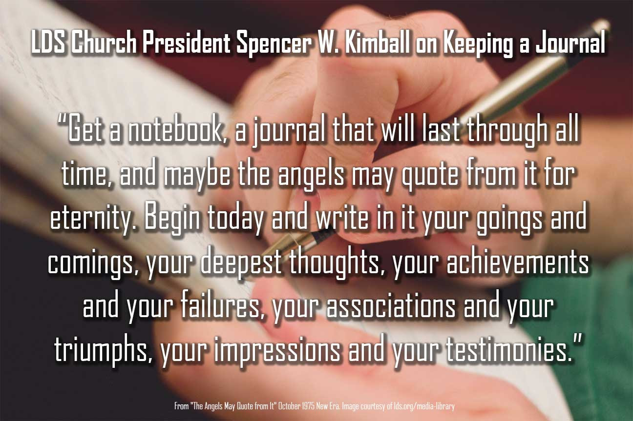 Journal Keeping Mission Prep