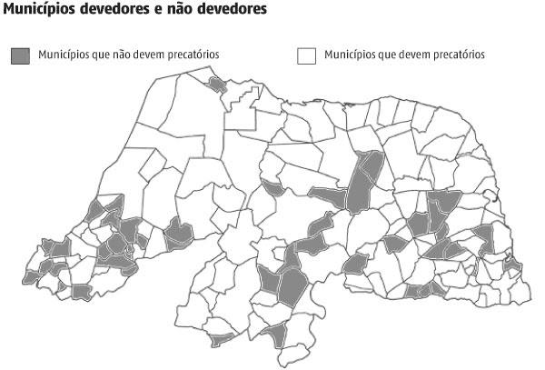 Resultado de imagem para municípios devedores de precatórios