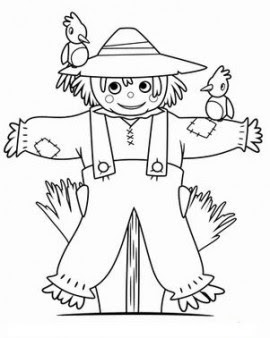printable thanksgiving scarecrow coloring page  free printable coloring pages for kids