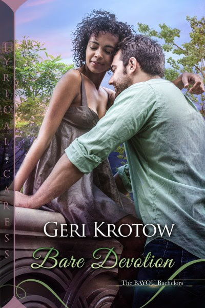 Book Cover for Contemporary Romance Bare Devotion from The Bayou Bachelors by Geri Krotow.