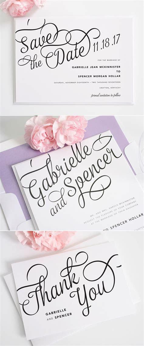 Statement Script Wedding Invitations   Invitations & Paper