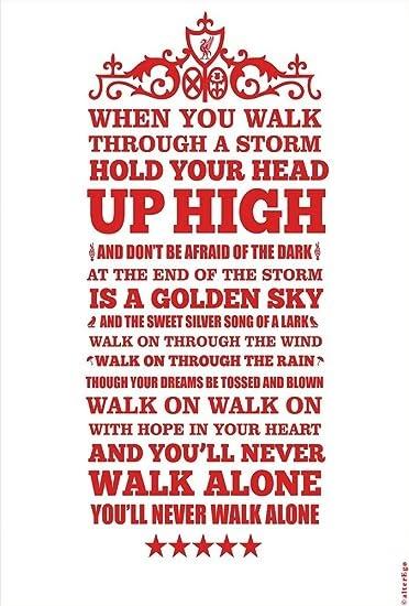 Youll Never Walk Alone Lyrics Poster
