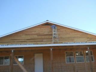 More Installing Siding Near the Roof