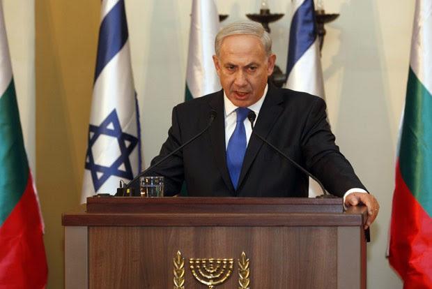 O premiê de Israel, Benjamin Netanyahu, durante entrevista nesta terça-feira (11) em Jerusalém (Foto: AFP)