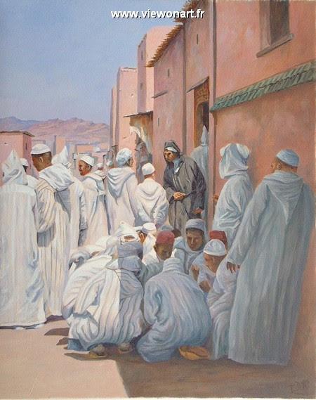 La Sadaka Après La Visite De La Mosquée Creations Peinture