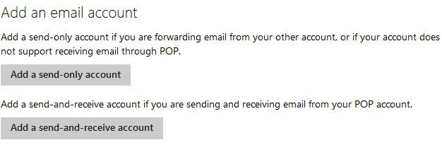 add an email account outlook