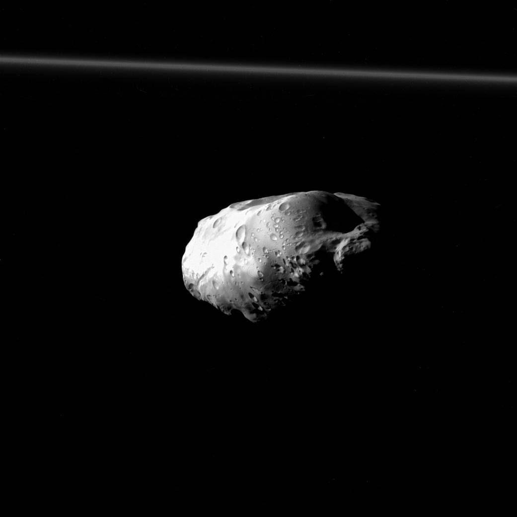Saturn's moon Prometheus