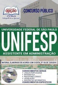 Apostila Concurso UNIFESP 2018 | ASSISTENTE EM ADMINISTRAÇÃO