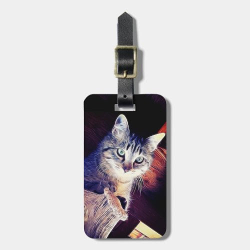 Kitty Aglow Close Up Photograph Travel Bag Tags