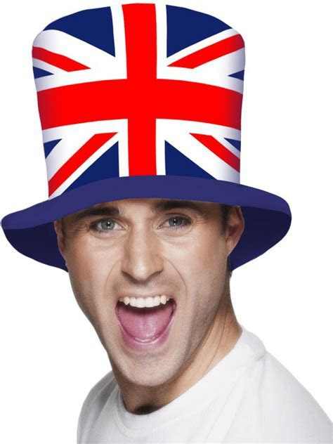 Smiffys Royal Wedding Union Flag Top Hat Fancy Dress
