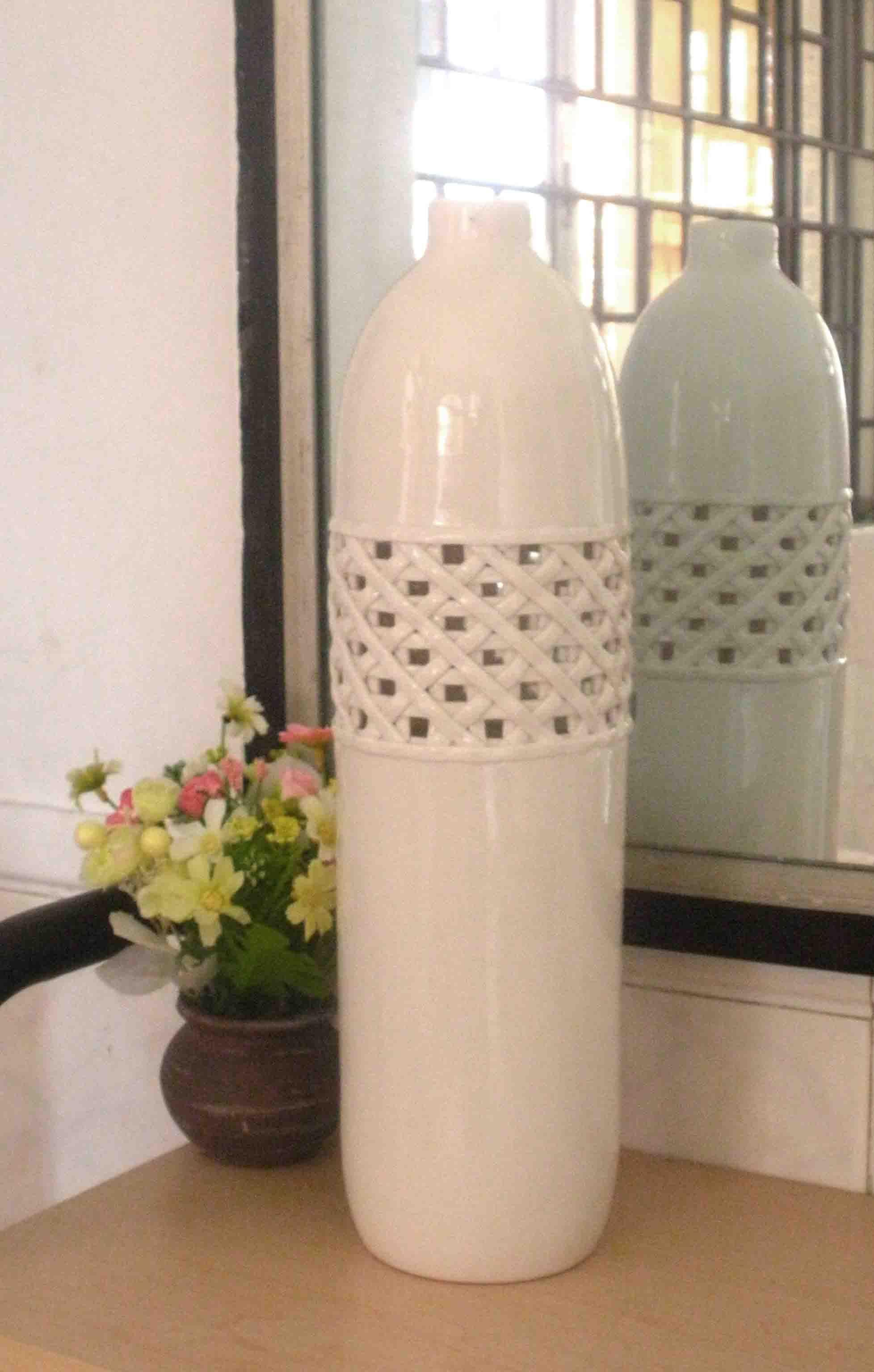 Ceramic decorating vases rumah minimalis wholesale fashion home decoration ceramic vase white pattern reviewsmspy